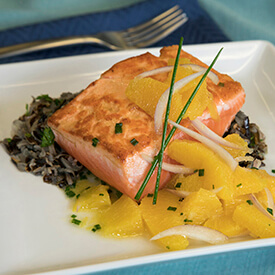 Salmon with citrus compote